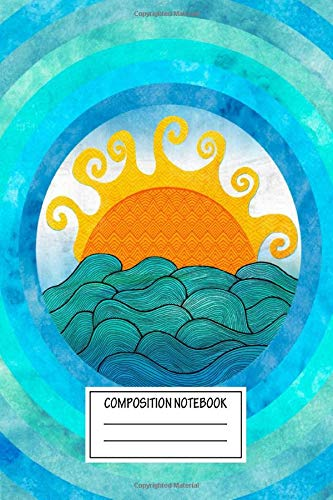 Composition Notebook: Paintings A Happy Day Nautical Wide Ruled Note Book, Diary, Planner, Journal for Writing