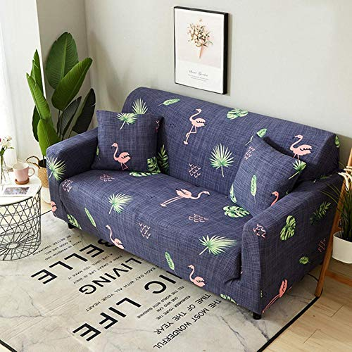 GFFGA Stretch Slipcover Couch Sofa Elastic Cover for Living Room Cotton Couch Cover L shape Armchair Cover 1/2/3/4 Seat Fundas Sofa,Color 15,3-Seat 190-230cm