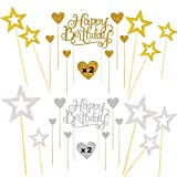 Sweieoni 38 Piezas Decoración para Tartas de Cumpleaños, Happy Birthday Cake Topper, para...