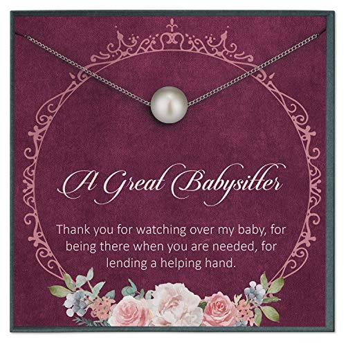 Grace of Pearl - Regalo para niñera, regalo de agradecimiento para niñera, regalo de cuidado de niños, cita especial para niñera, regalo de niñera