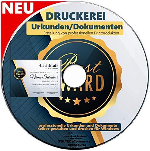 Urkunden und Dokumente Druckerei professionelle Urkunden und Dokumente selber gestalten und drucken für Windows TOP