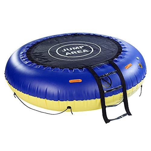 Monsterzeug Riesiges 4in1 Multifunktions-Trampolin, Aufblasbares Wasserspielzeug als Badeinsel oder auch als Garten-Pool verwendbar, 193 cm Durchmesser