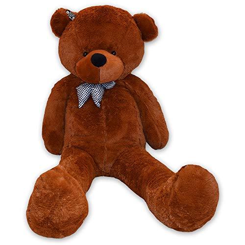 TE-Trend Oso de peluche gigante XXL de 160 cm, color marrón oscuro y marrón