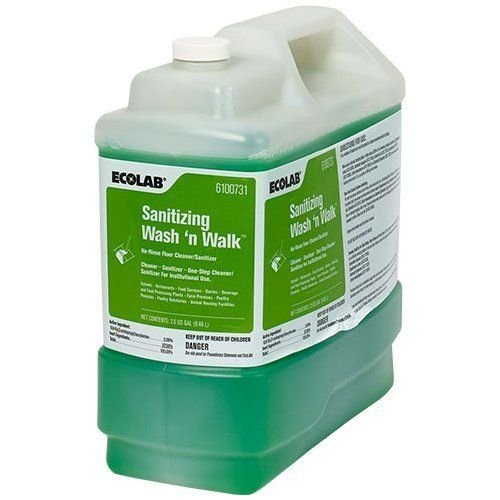 ECOLAB 6100731 Sanitizing Wash 'n Walk No-Rinse Floor Cleaner/Sanitizer - 2.5 Gallon