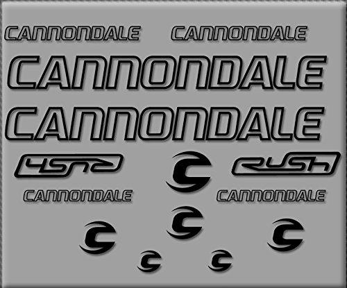 Ecoshirt 7H-8GZV-WO57 Aufkleber Cannondale Rush R308 Sticker, selbstklebend, Schwarz