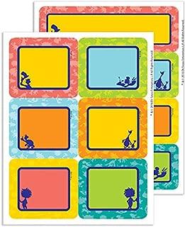 Eureka Back to School Dr. Seuss Multicolored Label Stickers for Teachers, 56pc
