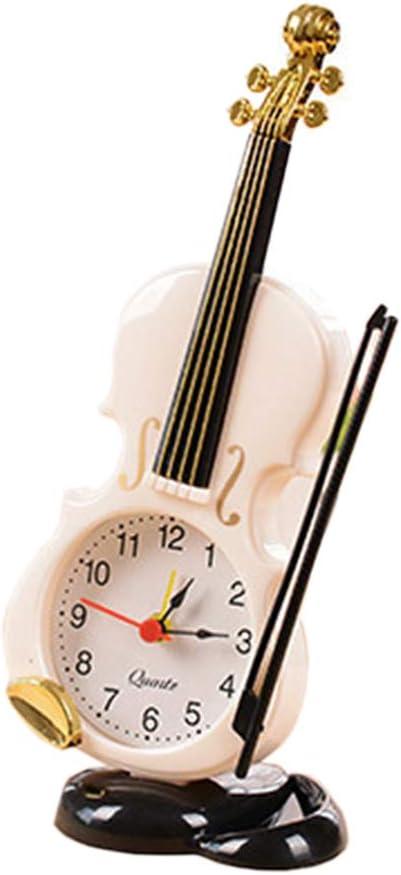 Sale price Creative Violin Table Clock Max 60% OFF Decoration,Plastic B Desktop