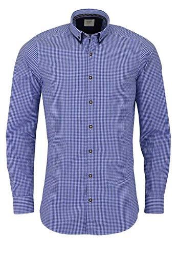 OLYMP Herren Body Popeline Shapewear Blau L
