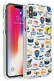 Hülle Warehouse Beschriftete Japanische Küche Sushi-Mix Impact Hülle kompatibel mit iPhone XR TPU Schutz Light Phone Tasche mit Transparent Japanisch Lebensmittel