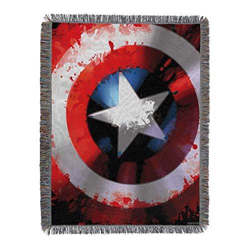 Marvel's Captain America, 'Star Shield' Woven Tapestry Throw Blanket, 48' x 60', Multi Color