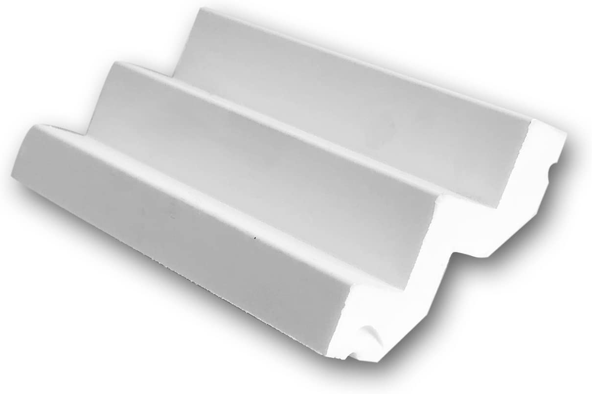 High Density Polyurethane Crown Moulding Orac Decor C356 4in Sample Piece Primed White