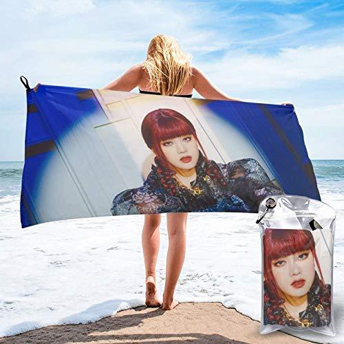 Toalla de secado rápido K-Pop Gi-D-Le Minnie, toallas de microfibra absorbente, ligera, portátil, toalla de baño para acampar, deportes, viajes, fitness, 27.5 x 55 pulgadas