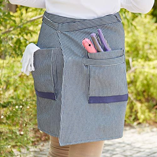 アストロ エプロン デニム風 ユニセックス ポケット付 602-50