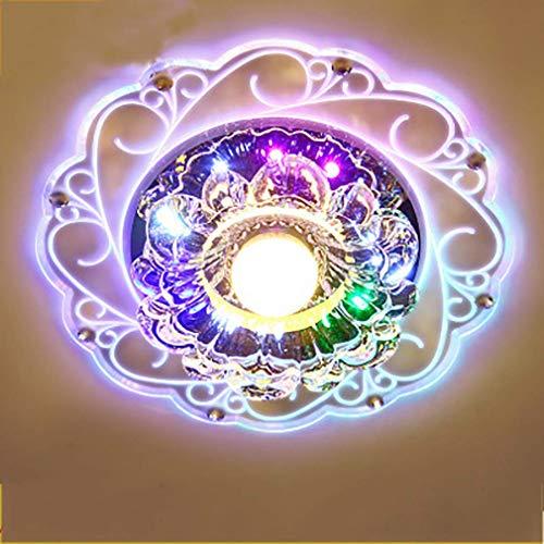 YANGQING Lámpara de techo moderna de cristal de 5 W LED de montaje empotrado pasillo pasillo porche luz colgante lámpara de iluminación 8 pulgadas, oculta, tamaño nombre: oculto (tamaño: oculto)