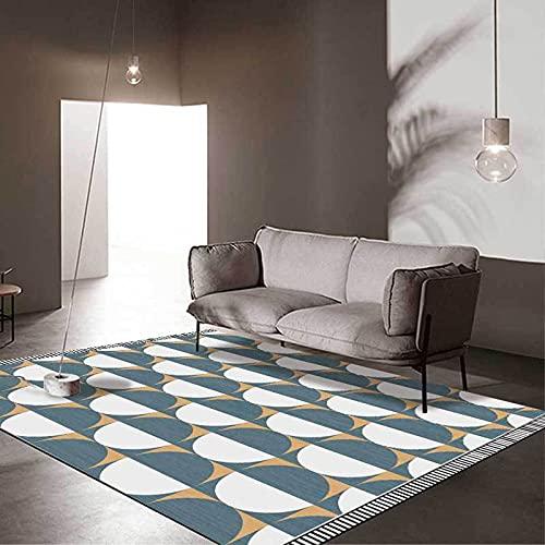 DERUKK-TY Alfombra artística moderna, con patrón redondo,...
