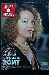 JOURS DE FRANCE 1424 Romy SCHNEIDER Cover + 6 p. Babeth Gendarmette LAUDA Guy BEART Lady DI Noah Les Malouines