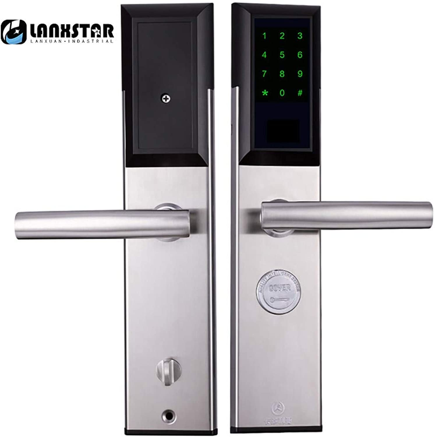 Mobile Phone Remote blueetooth app Unlock Rental Rental Apartment ShortTerm Security Door Code Lock Office Home Smart Lock  (color  gold color Left in)