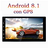 TOYOUSONIC Radio 2 DIN Android 8.1 Bluetooth GPS 7 Pulgadas HD Pantalla Táctil MP5 Car Stereo Llamadas Manos Libres FM/Am Apoyo Cámara Trasera DVR USB WiFi con Control Remoto