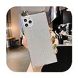Coque de téléphone de luxe à paillettes carrées fluorescentes pour iPhone 11 Pro Max 12 Mini XR...