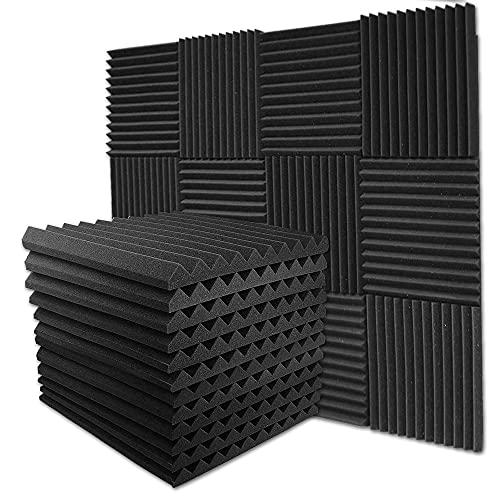 Velar 吸音材 防音材 30*30*2.5cm 12枚 消音 騒音 防音 吸音対策 室内装飾 楽器 壁 部屋 難燃 ウレタンフォーム ウェッジ 吸音シート 防音シート 吸音材質 ポリウレタン