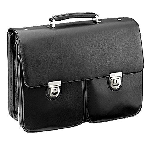 D & N Business Line Porte-Documents en Cuir de cerf – 43 x 33 x 13 cm – Organiseur – Ordinateur Portable Portables