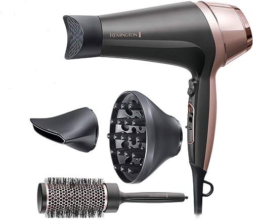 Remington Asciugacapelli Curl&Straight Confidence, 2200 Watt, Concentratore Ricurvo, 3 Temperature/ 2 Velocita, Gener...