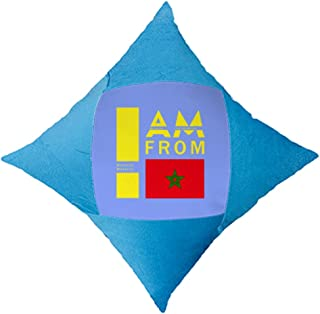OFFbb-USA I Am from Morocco - Funda de almohada decorativa para cama de coche, color azul