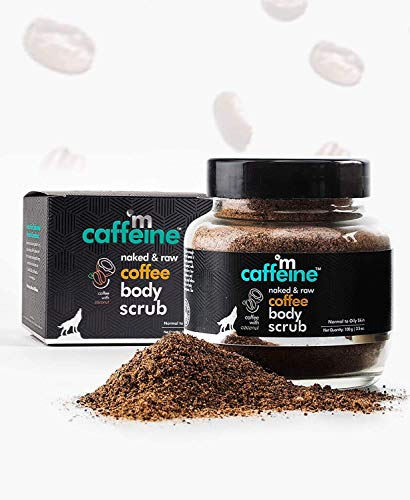 mCaffeine Naked & Raw Coffee Body Scrub, 100 g   Coconut   Tan Removal   Oily/Normal Skin   Paraben & SLS Free
