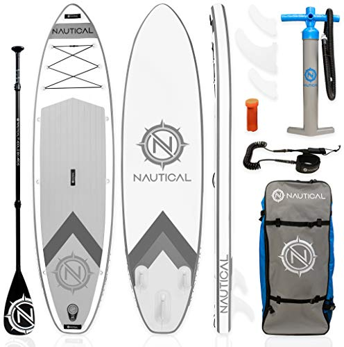 "iROCKER Nautical Inflatable Paddle Board (White, 10'6"")"