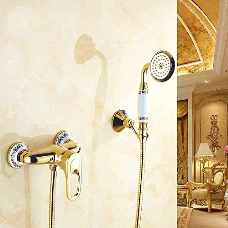 MDRW-Simple shower set continental copper bathtub faucet-style bathroom shower enclosure