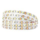 BTF-LIGHTING RGBW RGBCW White SK6812 (Similar WS2812B) 16.4ft 5m 60leds/pixels/m Individually Addressable Flexible 4 color in 1 LED Dream Color LED Strip Non-waterproof DC5V