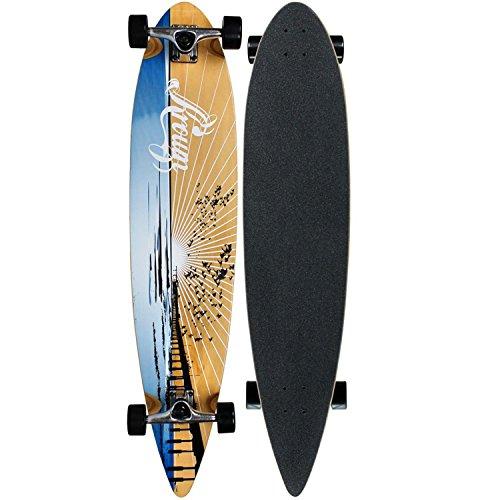 Krown Wood Sunset Complete Longboard Skateboard