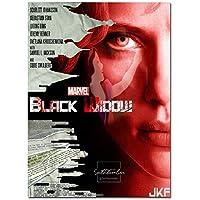 Suuyar 黒い窓のホットな映画のポスターとプリント壁アートプリントキャンバスにリビングルームの家の寝室の装飾-20X28インチX1フレームレス