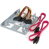 StarTech.com 2.5' to 3.5' SATA Hard Drive Mounting Bracket Kit - Dual SATA SSDs/HDDs Mounting Bracket for Mounting Bay (BRACKET25X2) Steel