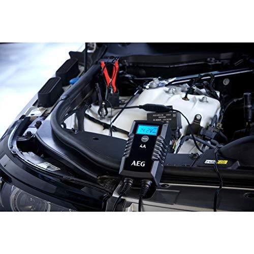 AEG Automotive 10616 Mikroprozessor-Ladegerät Auto Batterie LD 4.0, 4 Ampere für 6/12 V, 7-HF Ladestufen, Autostartfunktion Komfortanschluss