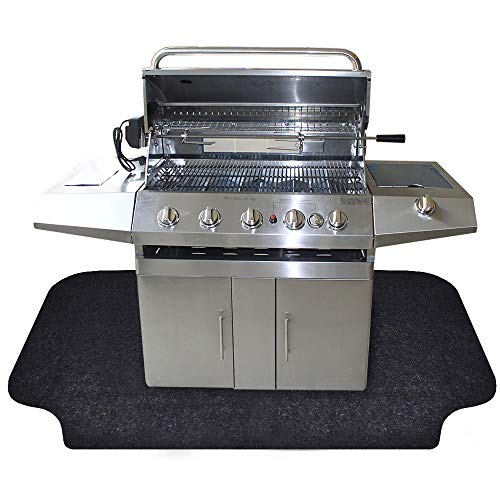 Sahamoduo Under The Grill Mat, (36' x 72') ,BBQ Grilling Gear Gas Electric Grill – Use This...
