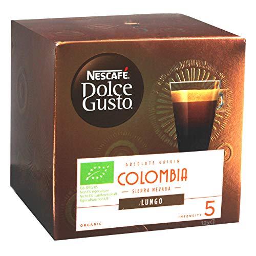 NESCAFÉ Dolce Gusto Absolute Origin Colombia Sierra Nevada Lungo, Kaffee Kapsel, Kaffeekapsel, Röstkaffee, Bio, 12 Kapseln