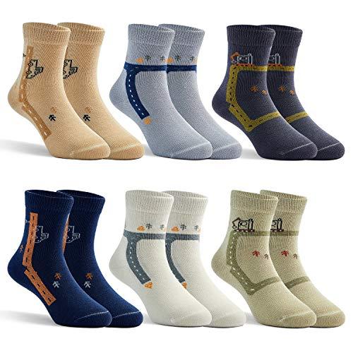 Moon Tree - Calcetines de algodón para niños, sin costuras, cómodos calcetines deportivos para todo el año Estrecho 8068/niño. 24-26