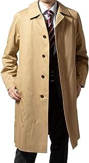 [UNITED GOLD] コート メンズ ビジネス 秋冬春 着脱式ライナー付き コットン ステンカラーコート ロングコート 419656