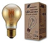 Bombilla de filamento LED greenandco® Vintage E27 3W (corresponde a 16W) 150lm 2000K (blanco cálido) 360° 230V vidrio, sin parpadeo, no regulable