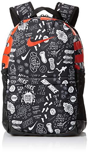 Nike 20 Ltrs Black/Black/Habanero Red Casual Backpack (BA6068-010)