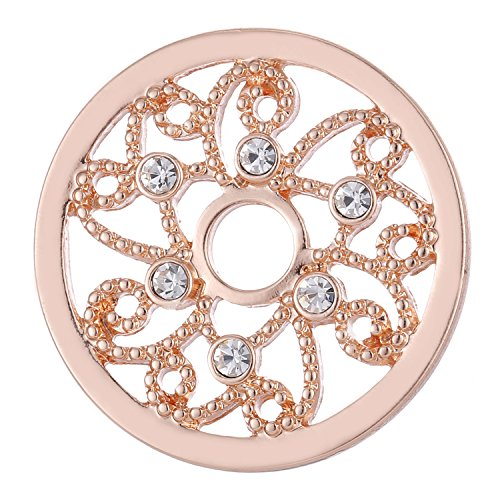 Morella Damen Coin 33 mm kosmische Sonne Rosegold