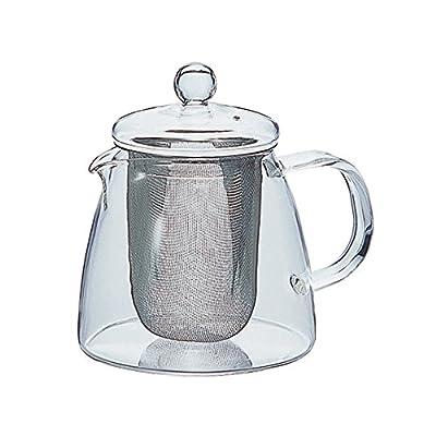 Hario Théière en Verre, pour thé en Feuille, avec Couvercle