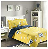 ORIHOME Queen Size Duvet Cover Set– 3 Piece Bed Sets with 1 Duvet Cover Two Pillowcase– Soft Microfiber Teen Bedding for Kids Boys Girl (Big Eyes, Yellow, Queen 90'x90') …