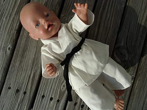 Puppenkleidung handmade Karate Anzug passend für Puppen Gr. 43 cm Gi Judo Aikido Teakwondo