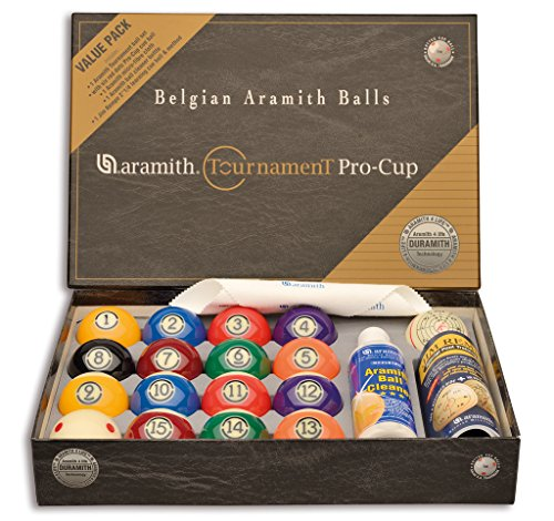 Aramith Pool Billard-Kugelsatz 57,2 Tournament Pro Cup Value Pack