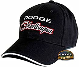 Gregs Automotive Dodge Challenger Black Hat Cap - Bundle with Driving Style Decal