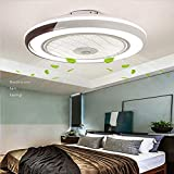Invisible ventilador de techo luz, moderna LED Ventilador de techo Lámpara de techo con luz Y mando...