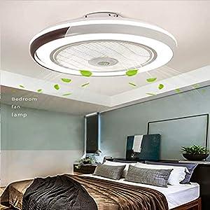 Invisible ventilador de techo luz, moderna LED Ventilador de techo Lámpara de techo con luz Y mando a distancia ventilador Luz Techo-aspas Plafones dormitorio Iluminación Sala Estar Comedor de techo
