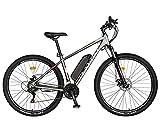 Carpat - Bicicleta eléctrica de montaña (27,5 pulgadas, motor de 250 W, autonomía máxima de 60 km, Shimano SL-TX30, Karpaten CSC10/11E negro/blanco)